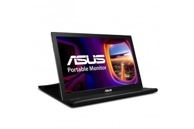 ASUS 15.6-inch Portable Monitor with USB-Powered, Ultra-Slim, Auto-Rotatable - MB168B (Black)