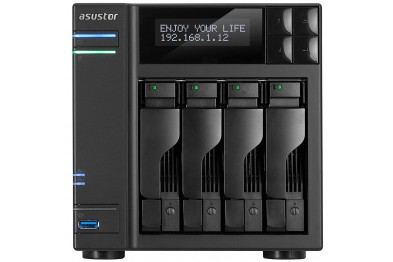 ASUSTOR AS6404T | 4 BAY NAS POWERED BY INTEL CELERON QUAD CORE (J3455) 1.5 Ghz, 8GB DDR3L MEMORY WITH DUAL GIGABIT LAN PORTS