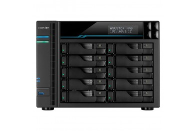 Asustor AS6510T 10-Bay NAS Storage (LOCKERSTOR 10) 10Gbe, M.2 SSD Cache and 2.5Gbe