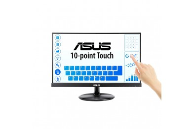 ASUS VT229H Touch Monitor 21.5 FHD (1920x1080), 10-point Touch, IPS, 178° Wide Viewing Angle, Frameless, Flicker free, Low Blue Light, HDMI, 7H Hardness
