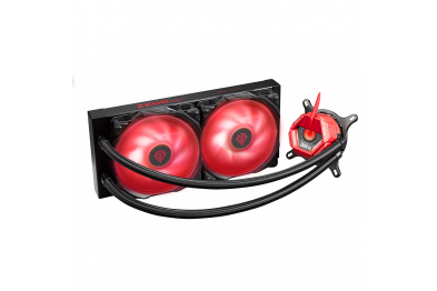 ASUS TUF Gaming LC 240 RGB ZAKU II EDITION all-in-one liquid CPU cooler with Aura Sync, and dual TUF 120mm RGB radiator fans