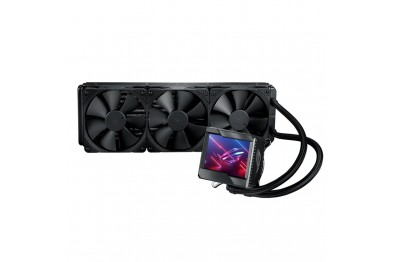 """ASUS ROG Ryujin II 360 all-in-one liquid CPU cooler with 3.5"""" LCD, embedded pump fan with PWM 120mm radiator fans"""