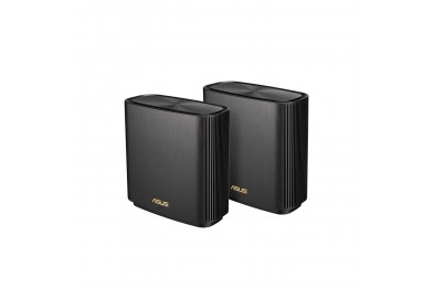 ASUS ZenWiFi XT8 AX Whole-Home Tri-Band Mesh WiFi 6 System - 2 Pack, Coverage up to 5,500 sq.ft or 6+Rooms, 6.6Gbps, WiFi, 3 SSIDs, Life-time Free Network Security and Parental Controls, 2.5G Port (3 YEARS WARRANTY BY ASUS)