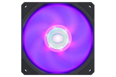 Cooler Master SickleFlow 120 RGB Case Fan, 1800 RPM, 62 CFM, 7-blade Design, RGB Luminescent Light Effect, Air Balance Design with Increased Curvature, Rib-support Frame, Sealed Bearing Structure