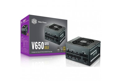 Cooler Master V650 Gold SFX PSU, 80 Plus Gold, Half Bridge LLC + DC-to-DC, 100% Japanese Capacitors, 16 AWG PCI-e Cables, Fully Modular Flat Cables