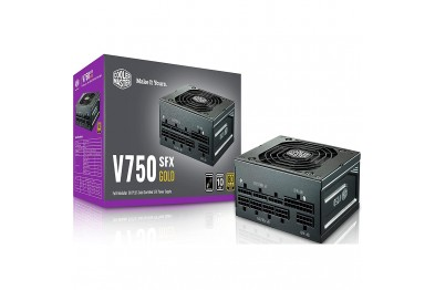 Cooler Master V750 Gold SFX PSU, 80 Plus Gold, Half Bridge LLC + DC-to-DC, 100% Japanese Capacitors, 16 AWG PCI-e Cables, Fully Modular Flat Cables