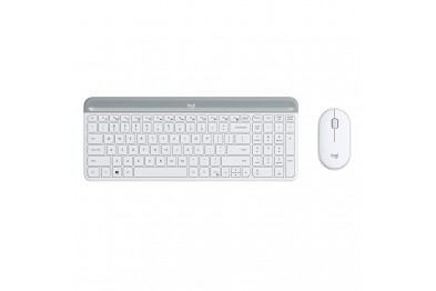 LOGITECH MK470 WHITE SLIM COMBO WIRELESS KB AND MOUSE(1YEAR WARRANTY)