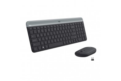 LOGITECH MK470 GRAPHITE SLIM COMBO WIRELESS KB AND MOUSE(1Year Warranty)