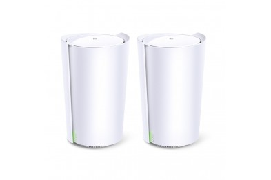 TP-Link Deco Tri-Band WiFi 6 Mesh System(Deco X90) - Covers up to 6000 Sq.Ft, Replaces Routers and Extenders, AI-Driven and Smart Antennas, 2-Pack